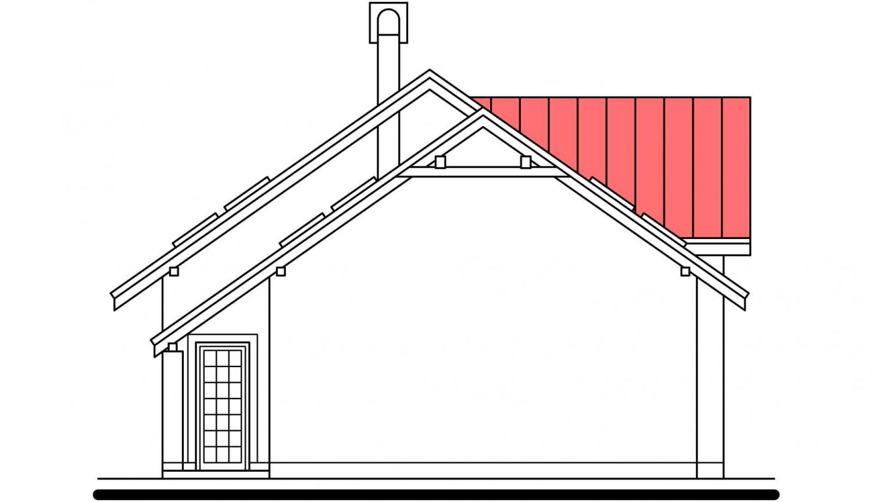 Pohľad 4. - Podkrovný dom s veľkou obývačkou