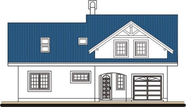 Pohľad 1. - Podkrovný dom s veľkou obývačkou