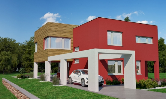 projekt domu CUBER 10
