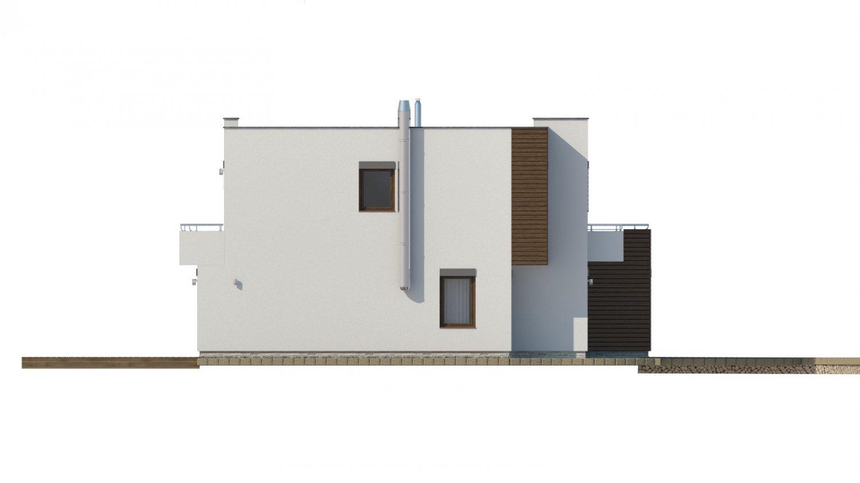 Pohľad 2. - Moderný projekt domu s garážou
