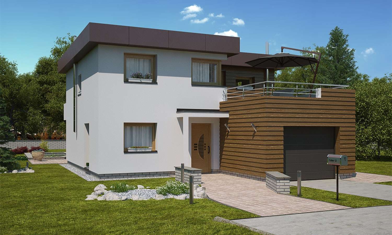 projekt domu CUBER 12