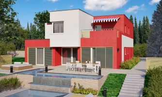 Presvetlený moderný rodinný dom