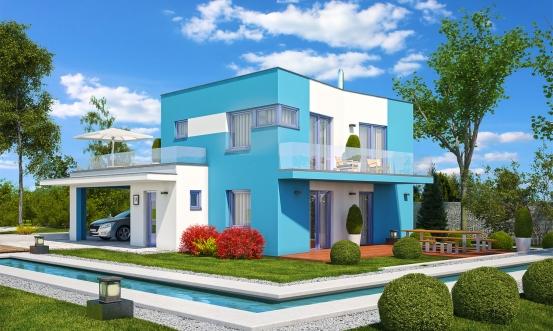 projekt domu CUBER 14