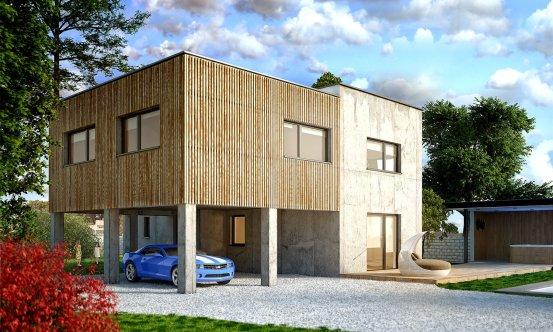 projekt domu CUBER 15