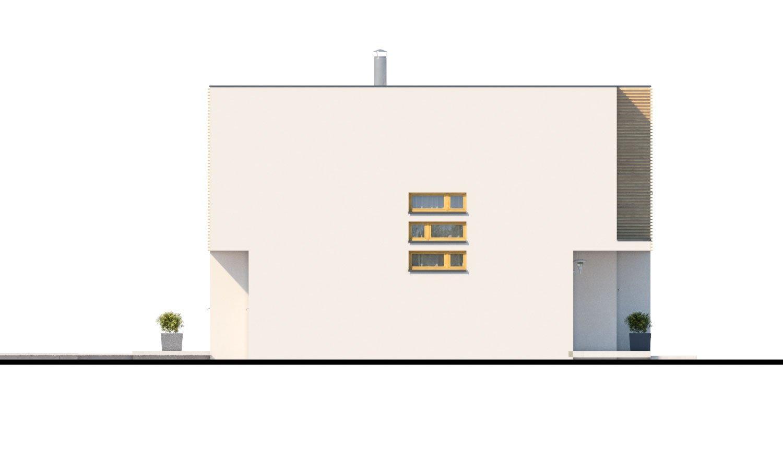 Pohľad 4. - Poschodový rodinný dom s izbou aj na prízemí.