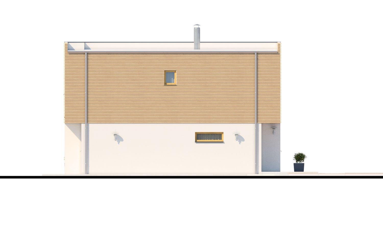 Pohľad 2. - Poschodový rodinný dom s izbou aj na prízemí.