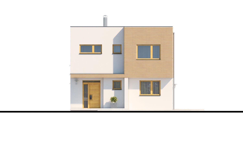 Pohľad 1. - Poschodový rodinný dom s izbou aj na prízemí.