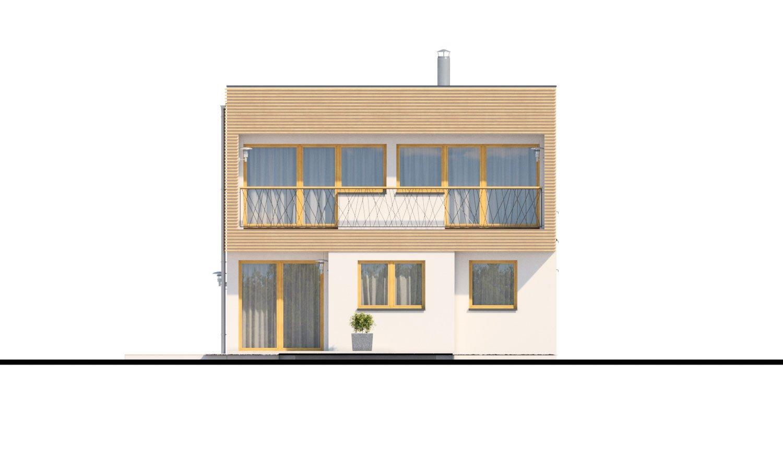 Pohľad 3. - Poschodový rodinný dom s izbou aj na prízemí.