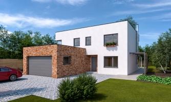 Priestranný moderný rodinný dom s dvojgarážou.