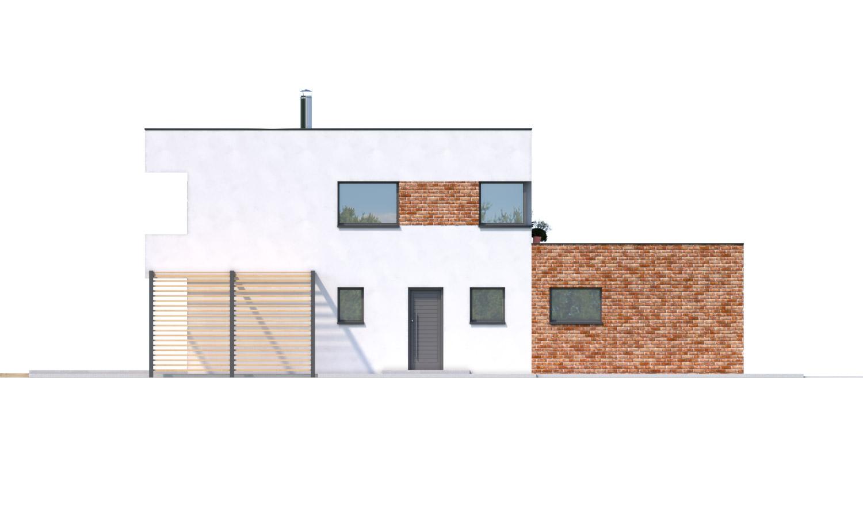 Pohľad 4. - Priestranný moderný rodinný dom s dvojgarážou.