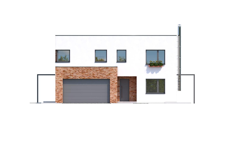Pohľad 1. - Priestranný moderný rodinný dom s dvojgarážou.
