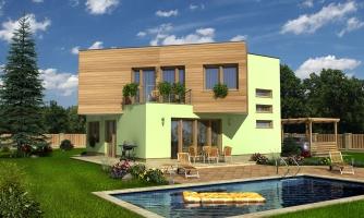 Moderný projekt poschodového rodinného domu s rovnou strechou