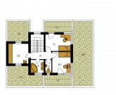 Pôdorys poschodia - CUBER 4