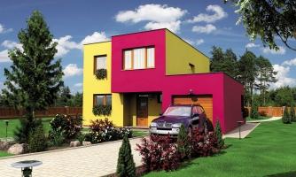 Projekt domu s rovnou strechou