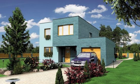 projekt domu CUBER 6