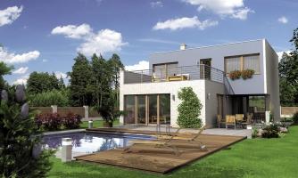 Moderne riešený 4-izbový dom.