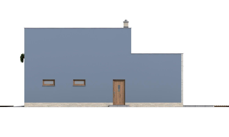 Pohľad 4. - Moderne riešený 4-izbový dom.