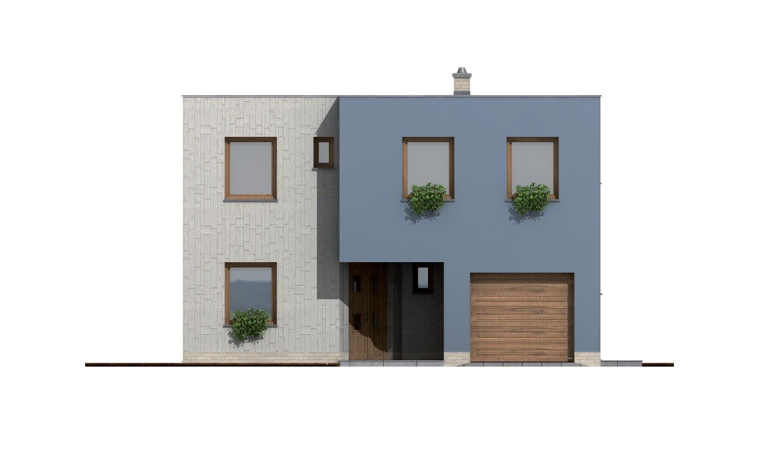 Pohľad 1. - Moderne riešený 4-izbový dom.