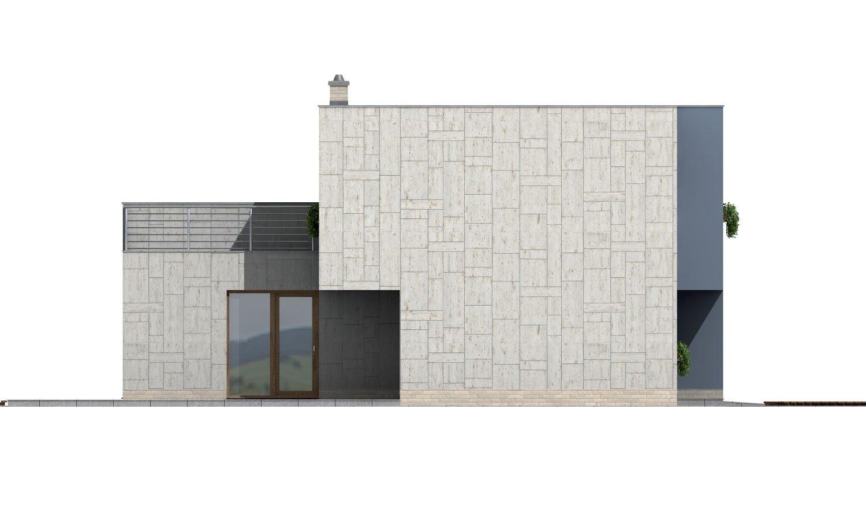 Pohľad 2. - Moderne riešený 4-izbový dom.