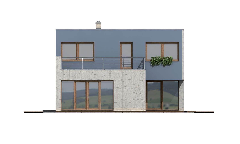 Pohľad 3. - Moderne riešený 4-izbový dom.