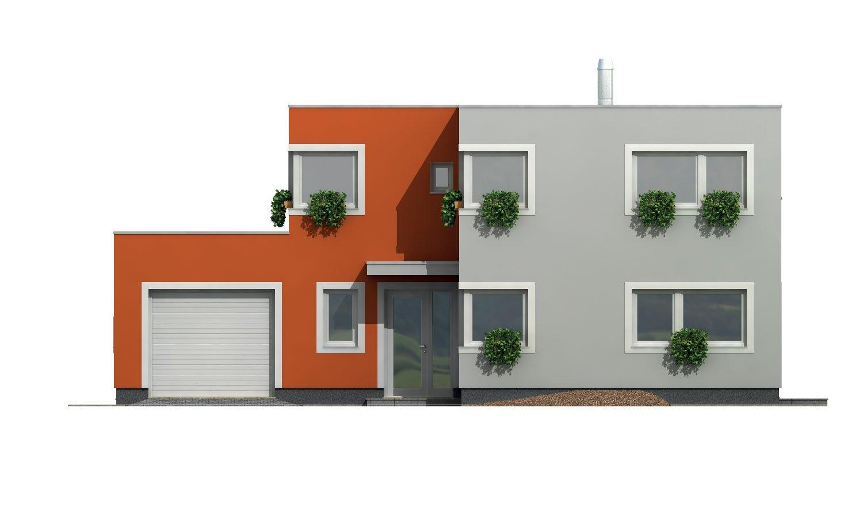 Pohľad 1. - Priestranný rodinný dom s garážou a izbou na prízemí.