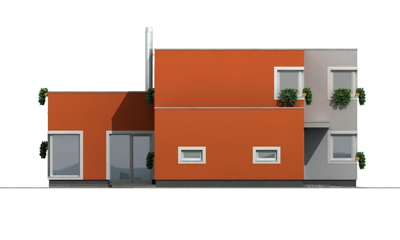 Pohľad 2. - Priestranný rodinný dom s garážou a izbou na prízemí.