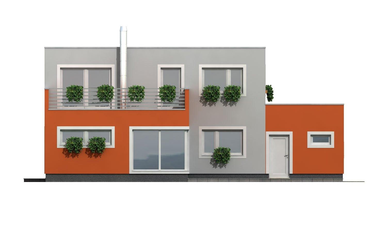Pohľad 3. - Priestranný rodinný dom s garážou a izbou na prízemí.