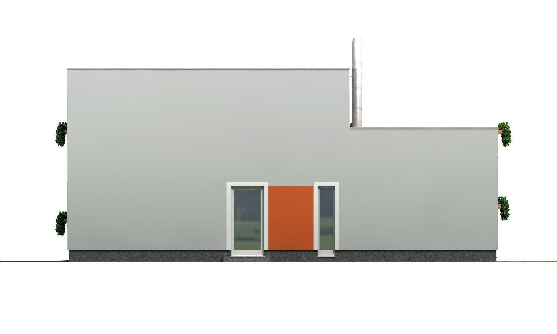 Pohľad 4. - Priestranný rodinný dom s garážou a izbou na prízemí.