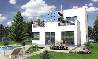 Rodinný dom s plochou strechou