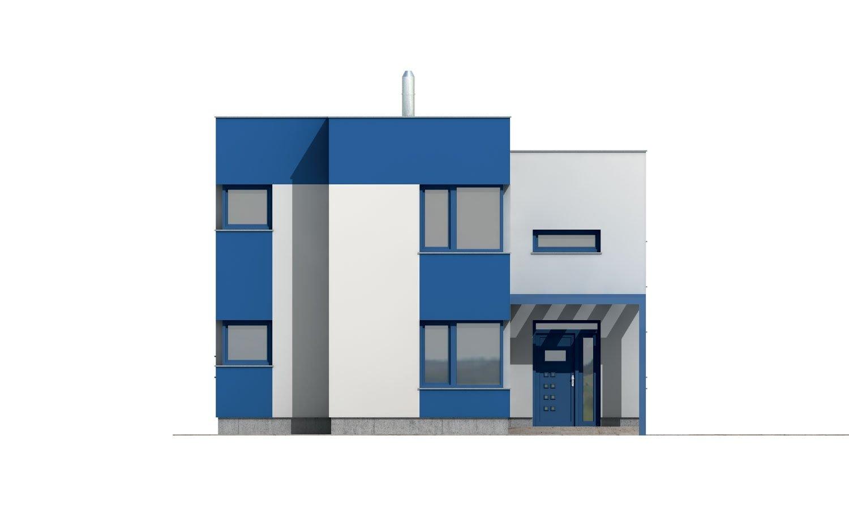 Pohľad 1. - Rodinný dom s plochou strechou