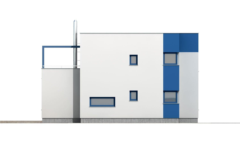 Pohľad 2. - Rodinný dom s plochou strechou