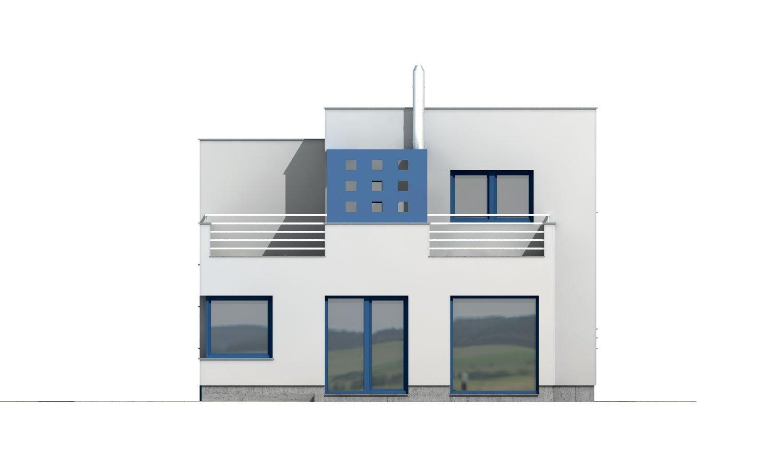 Pohľad 3. - Rodinný dom s plochou strechou