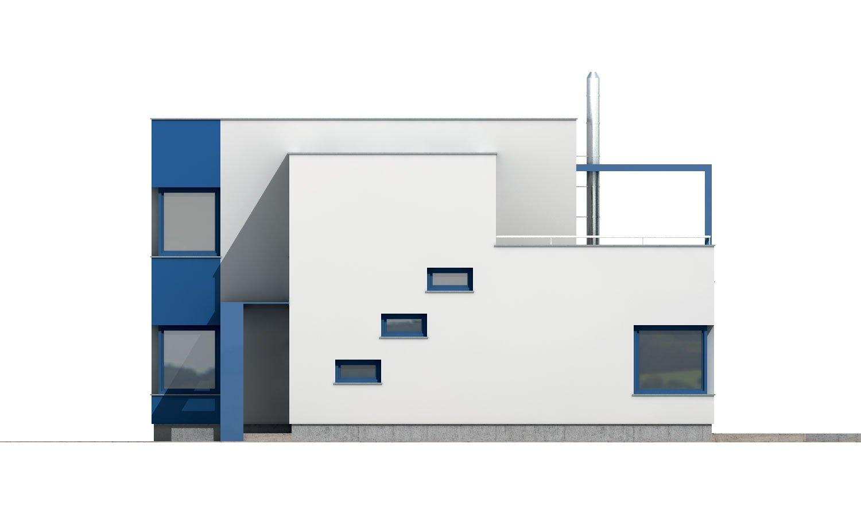 Pohľad 4. - Rodinný dom s izbou na prízemí.