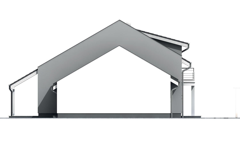 Pohľad 2. - Prízemný aj poschodový murovaný rodinný dom vhodný aj do radovej zástavby, alebo ako dvojdom, zrušením galérie sa získa izba na poschodí