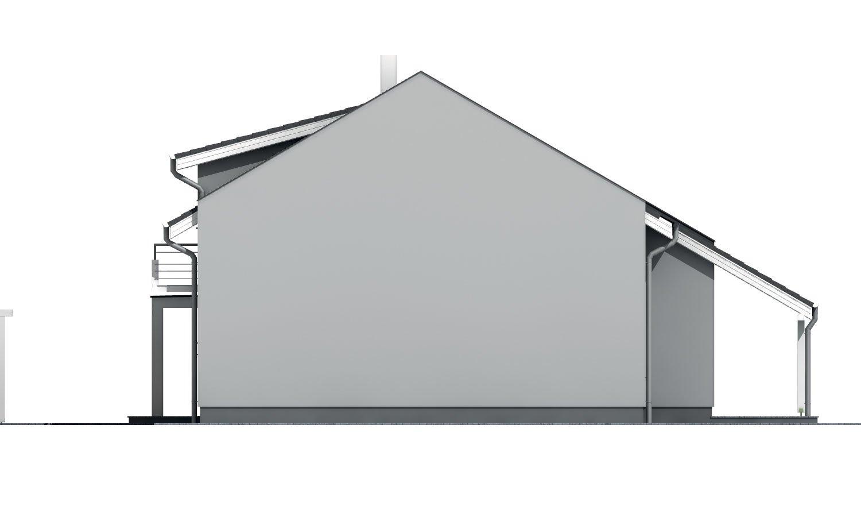 Pohľad 4. - Poschodový murovaný rodinný dom vhodný aj do radovej zástavby, alebo ako dvojdom. Zrušením galérie sa získa izba na poschodí.