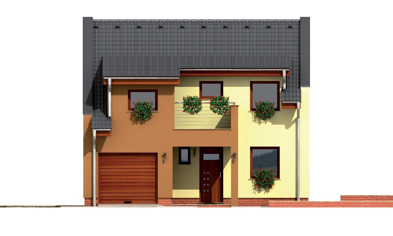 Pohľad 1. - Moderný viacpodlažný rodinný dom