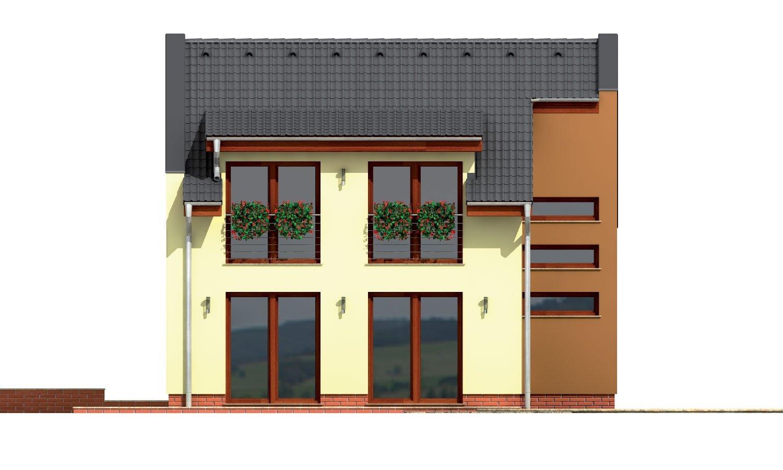 Pohľad 3. - Moderný viacpodlažný rodinný dom