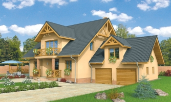 Veľký exkluzívny dom s dvojgarážou.
