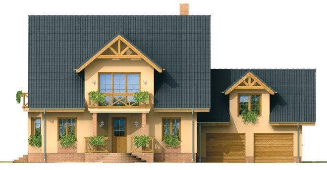 Pohľad 1. - Veľký exkluzívny dom s dvojgarážou.