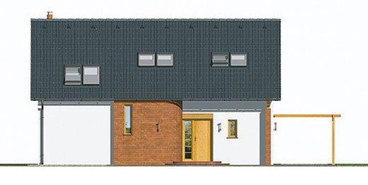 Pohľad 1. - Dom na úzky pozemok s podkrovím