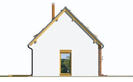 Pohľad 2. - Dom na úzky pozemok s podkrovím.