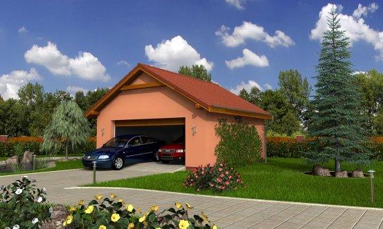 projekt domu DVOJGARÁŽ B