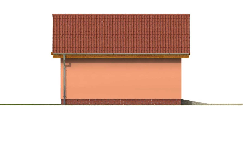 Pohľad 2. - Samostatne stojaca dvojgaráž so sedlovou strechou a širokými garážovými vrátami