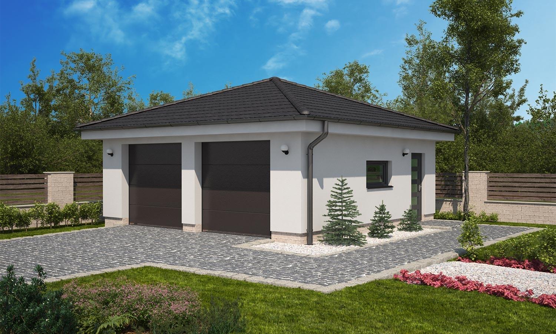 projekt domu DVOJGARÁŽ C