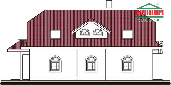 Pohľad 2. - Veľký dom s obytným podkrovím
