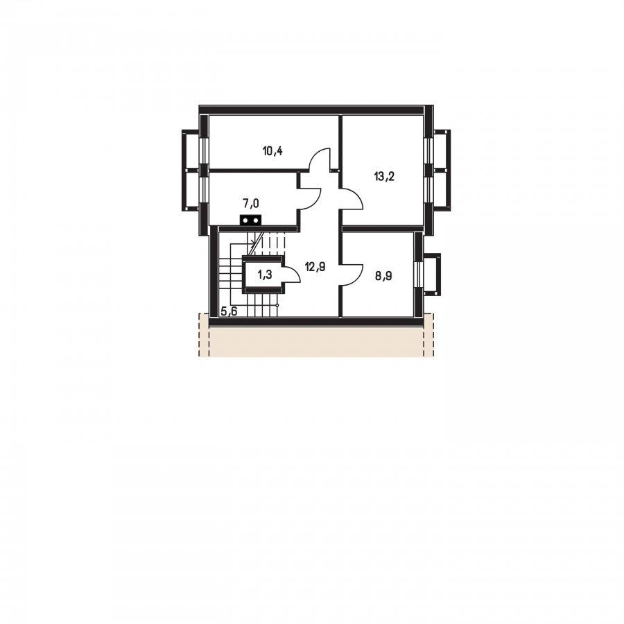 Pôdorys Suterénu - Veľký dom s obytným podkrovím