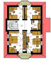 Pôdorys poschodia - ELEGANT 116