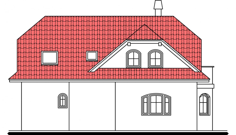Pohľad 3. - Zaujímavý dom s podkrovím