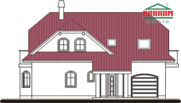 Pohľad 1. - Zaujímavý dom s podkrovím
