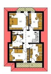 Pôdorys poschodia - ELEGANT 120